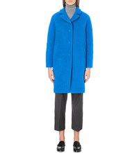 Claudie Pierlot Galva Wool Blend Coat Turquoise