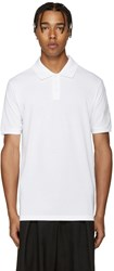 Y 3 White Piqua Polo