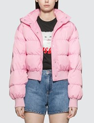 Msgm Basic Short Down Jacket Pink