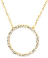 Giani Bernini Cubic Zirconia Circle Pendant Necklace In Gold Plated Sterling Silver Only At Macy's