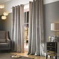 Kylie Minogue At Home Adelphi Lined Eyelet Curtains Mist Silver