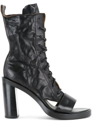 Ann Demeulemeester Cut Out Heel Boots Black