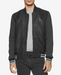 Calvin Klein Jeans Men's Baseball Bomber Jacket Black