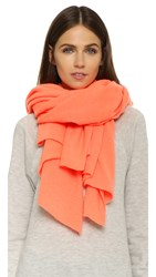 White Warren Cashmere Travel Wrap Scarf Neon Sunset