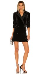 1.State 1. State Ruched Velvet Blazer Dress In Black. Rich Black