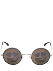 Jeremy Scott By Italian Independent Emoji Rounded Metal Sunglasses