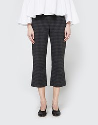 Stelen Plaid Cropped Pant Grey