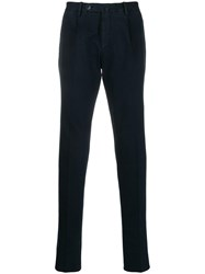 Corneliani Straight Leg Trousers Blue