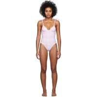 Solid And Striped Pink White Tie Dye The Olympia One Piece Swimsuit