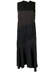 Ports 1961 Flared Dress With Lace Panels Black