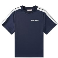 Palm Angels Track Taping Tee Blue