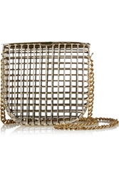 Anndra Neen Cage Gold Tone Shoulder Bag