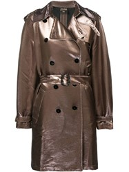Jean Paul Gaultier Vintage 1990'S Double Breasted Trench Coat Pink