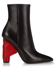 Balenciaga Bistrot Leather Boots Black