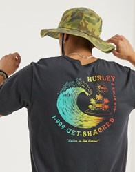 Hurley Get Shacked T Shirt In Grey