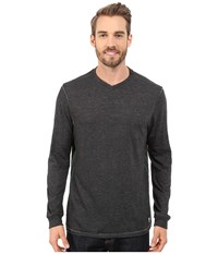 Tommy Bahama Sundays Best V Neck Long Sleeve Charcoal Heather Men's Clothing Gray