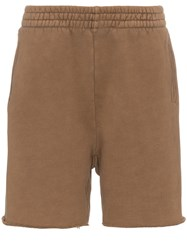 Yeezy Brown Elasticated Waist Cotton Sweat Shorts