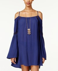 American Rag Cold Shoulder Shift Dress Only At Macy's Navy