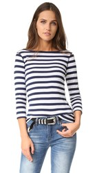 Three Dots 3 4 Sleeve British Tee Stripe