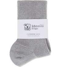 Johnstons Ribbed Cashmere Socks Coyote