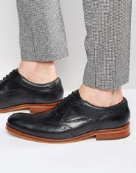 Hudson London Keating Leather Oxford Brogues Black
