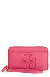 Tory Burch Women's Harper Leather Iphone 6 6S Wristlet Pink Fiesta