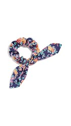 Dannijo Liberty Print Scrunchie Navy