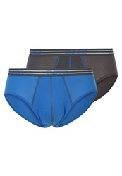 Sloggi Match Midi 2 Pack Briefs Blue Dark Gray Dark Grey