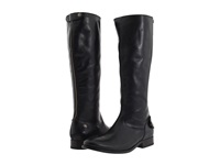 Frye Melissa Button Back Zip Black Soft Vintage Leather Women's Zip Boots