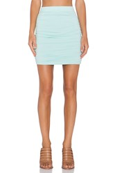 Bobi Modal Jersey Mini Skirt Mint