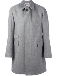 Thom Browne Oversized Single Breasted Coat Grey
