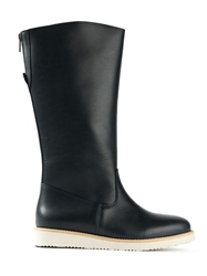 A.P.C. 'Quiberon' Calf Length Boots Black