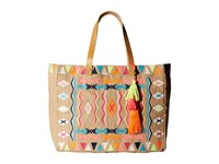 Seafolly Carried Away Mexican Summer Tote Natural Tote Handbags Beige