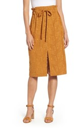 Moon River Embroidered Paperbag Waist Skirt Maple