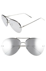 Linda Farrow Women's 63Mm Titanium Aviator Sunglasses