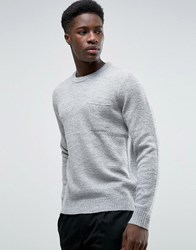 Kiomi Knitted Jumper With Pocket Grey