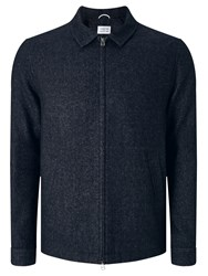 Libertine Libertine Tell Chart Melton Bomber Jacket Dark Navy