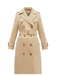 Burberry Islington Cotton Gabardine Trench Coat Beige