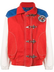 Polo Ralph Lauren Colour Block Bomber Jacket Red