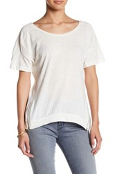 Poof Zipper Hem Tee White