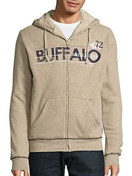Buffalo David Bitton Fenski Sherpa Lined Long Sleeve Hoodie Oatmeal