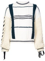 Carven Knit Mesh Sweater White