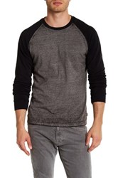 Threads For Thought Crew Neck Raglan Sleeve Burnout Tee Black