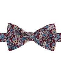 Tommy Hilfiger Men's Jason Floral Print To Tie Bow Tie Red