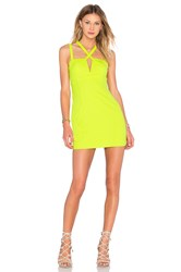 Nbd X Naven Twins Choose Me Bodycon Dress Lemon