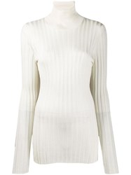 Nude Roll Neck Top White