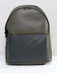 Ted Baker Backpack In Leather Green