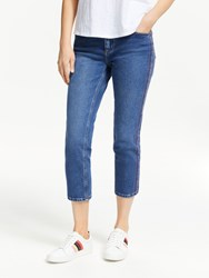 Boden Cambridge Embroidered Jeans Blue Rainbow Stripe