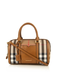 Burberry Alchester Checked Canvas Bowling Bag