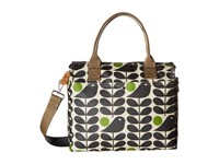 Orla Kiely Early Bird Print Zip Messenger Granite Messenger Bags Gray